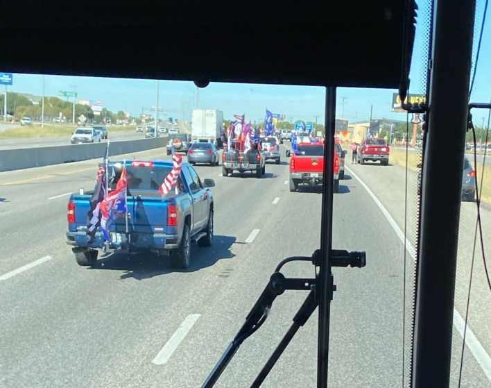 "Caravana de Biden acosado en autopista de Texas, obliga cancelar eventos de Campaña tras ""emboscada"" de partidarios Trump 2"