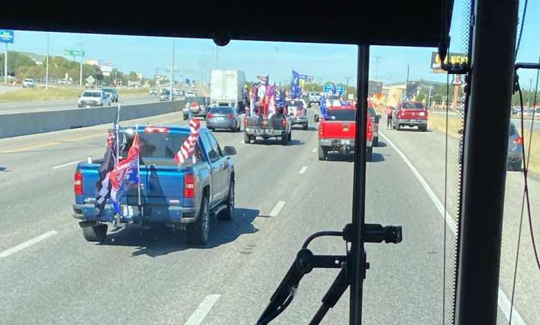 "Caravana de Biden acosado en autopista de Texas, obliga cancelar eventos de Campaña tras ""emboscada"" de partidarios Trump 1"