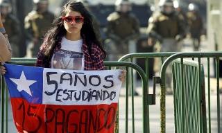 Photo of Cerca de 48 mil chilenos se movilizaron en Santiago, convocados por los estudiantes