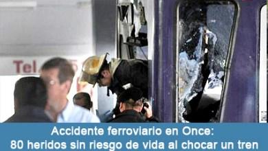 Photo of LINEA SARMIENTO: Accidente ferroviario en Once: 80 heridos sin riesgo de vida al chocar un tren