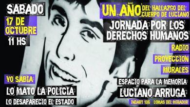 Photo of Lomas del Mirador: Homenaje a Luciano Arruga a un año del descubrimiento de su paradero