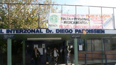 Photo of Isidro Casanova:Asamblea conjunta de CICOP y ATE en el Paroissien