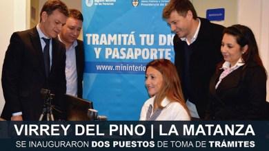 Photo of Virrey del Pino:Se inauguraron dos puestos de toma de trámites para DNI