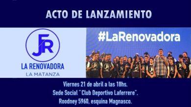 "Photo of Se lanza ""La Renovadora"" de La Matanza"