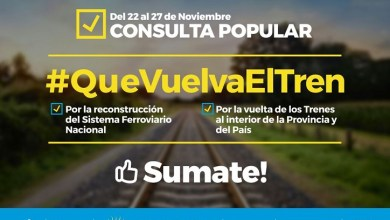 Photo of Toda la Provincia podrà decir que tren necesita tener