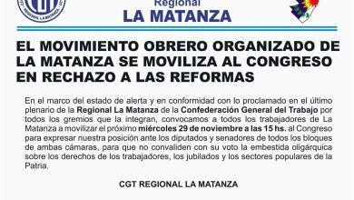 Photo of Suma de la CGT Matanza a la movilización