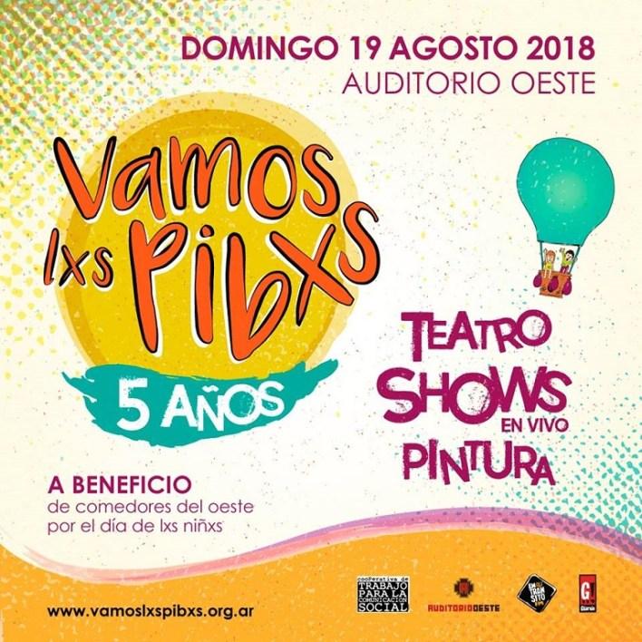 19 de agosto festival solidario Vamos Lxs Pibxs
