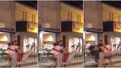 Photo of Le robaron la bandera de River, y agredió con una trompada a una mujer