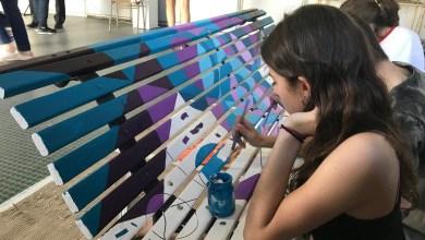 Photo of Los bancos de la UNLaM tomaron color gracias a chicos de escuelas secundarias