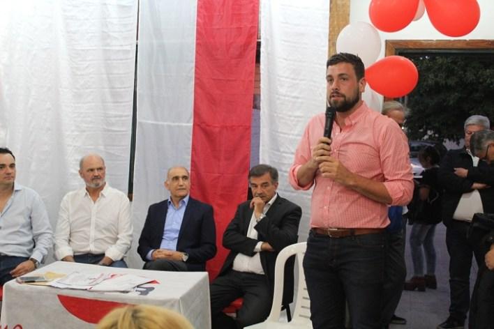 Con la presencia de Daniel Salvador, Lucas Delfino participó de la asunción de autoridades de la UCR local