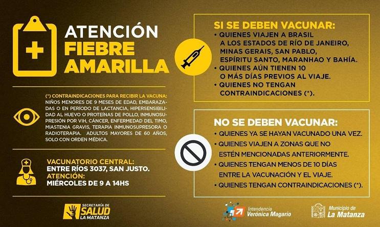 vacuna fiebre amarilla contraindicaciones embarazo