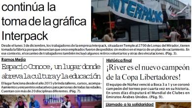 Photo of #BuenMartes Portada impresa de Diario NCO del 11-12-2018