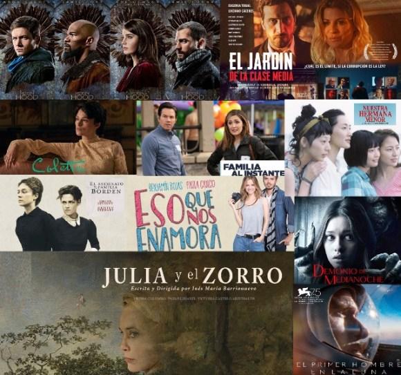 Variedad de estrenos renovando la cartelera.