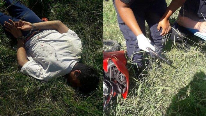Morón: motochorros eludieron control, chocaron y los detuvieron