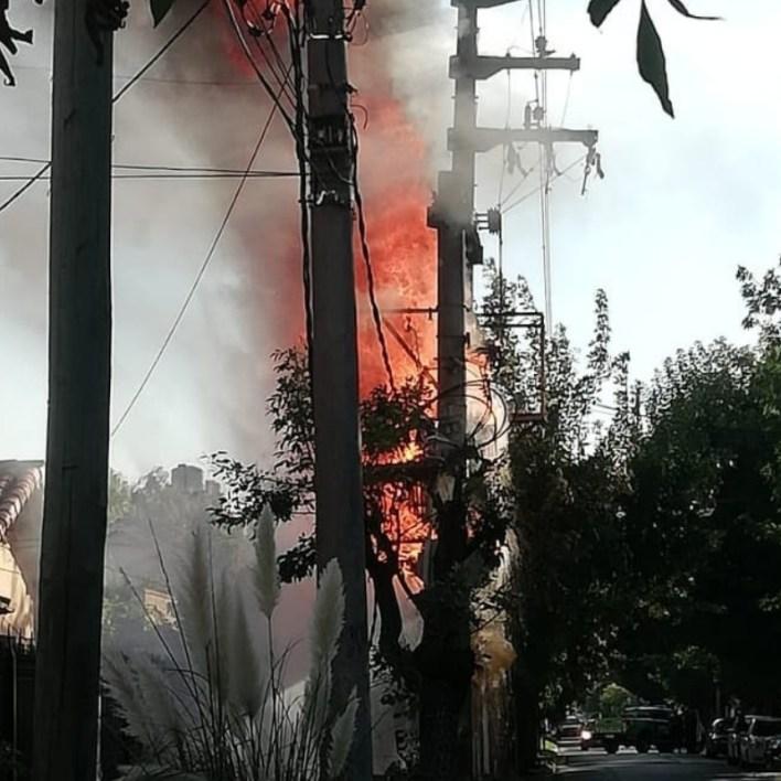 Explosión y miedo en el centro de Monte Grande