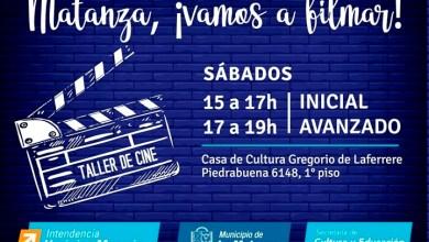 """Photo of Comienza la inscripción para los talleres municipales """"Matanza, ¡Vamos a Filmar!"""" y """"¡Matanza Filma!"""""""