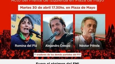 Photo of Hoy, 17, acto FIT en Plaza de Mayo