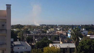 Photo of Fuego en Hurlingham pegado a Autopista del Oeste