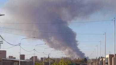 Photo of Cámara testigo: grave incendio en un campo de Las Heras