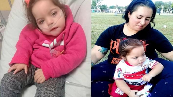 Kiara es un caso único en el mundo, vive en Castelar y necesita la ayuda de todos para seguir adelante