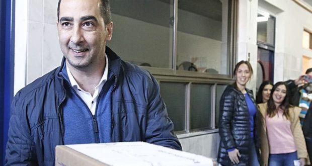 Tagliaferro votó en Castelar acompañado por su familia