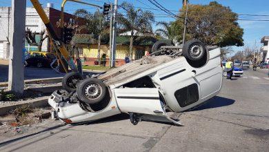 Photo of Choque y vuelco en sin heridos graves