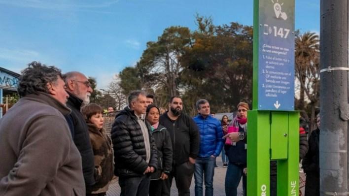 Hurlingham: Zabaleta inauguró un nuevo sistema que permite alertar sobre hechos de inseguridad en la vía pública