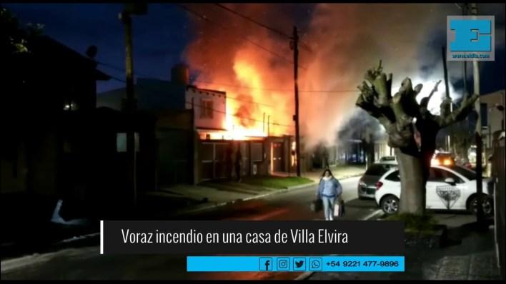 Extrema tensión en barrio de La Plata por impresionante incendio
