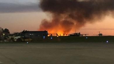 Photo of Incendio junto al aeropuerto de El Palomar: todos los vuelos suspendidos