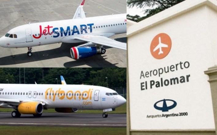 El Palomar: denuncian que los vuelos nocturnos de Flybondi y JetSmart estarían vinculados al narcotráfico