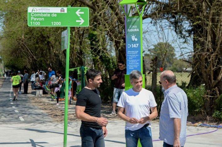 Hurlingham   Zabaleta visitó el nuevo corredor aeróbico de las calles O'Brien y Combate de Pavón