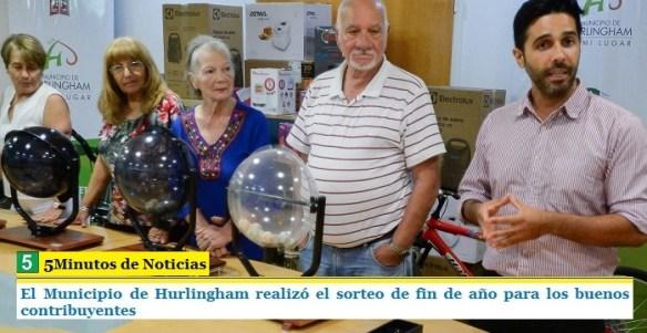 Hurlingham: Sorteo para buenos contribuyentes