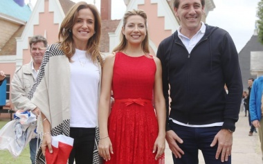 Fabiola Yáñez visitó la República de los Niños junto a Julio Garro y Tolosa Paz