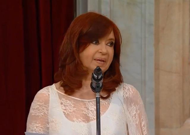Cristina Fernández juró como vicepresidenta de la Nación