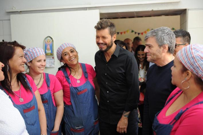 Zabaleta y Marcelo Tinelli presentaron el plan contra el hambre junto a intendentes del país