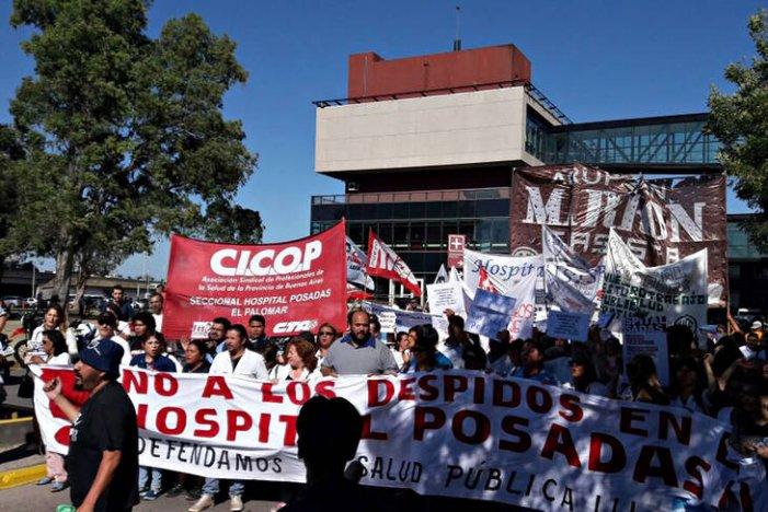 """Hospital Posadas: """"Los despedidos exigimos ser inmediatamente reincorporados"""""""
