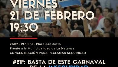 Photo of Vecinos de La Matanza marcharán contra la inseguridad