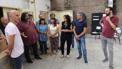 Photo of Hurlingham | Zabaleta y Baradel recorrieron escuelas en obras