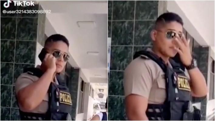 VIDEO VIRAL: Él es el policía que roba cientos de suspiros en Tik Tok