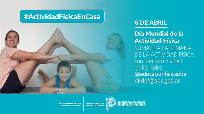 Educación bonaerense inició una campaña para la promoción de la actividad física en los hogares