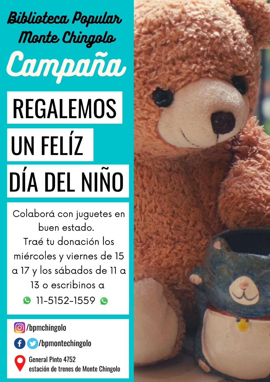 """""""Regalemos un Feliz Día del Niño"""", la campaña de la Biblioteca Popular de Monte Chingolo"""