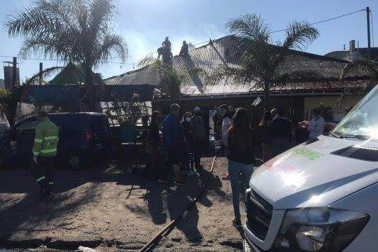 Tensión por el incendio de una Parrilla en La Plata