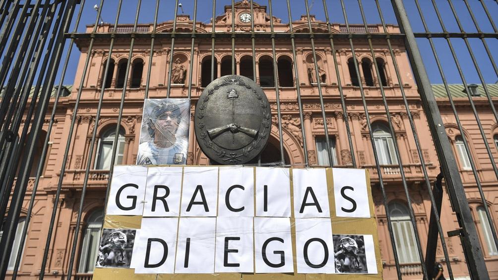 Diego Maradona será velado en la Casa Rosa y el Gobierno decretó tres días de duelo nacional