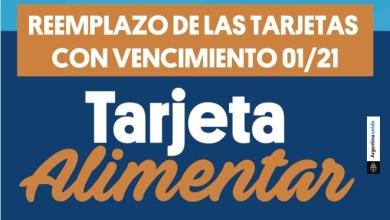 Photo of Reemplazo de las Tarjetas Alimentar con vencimiento el 01-21