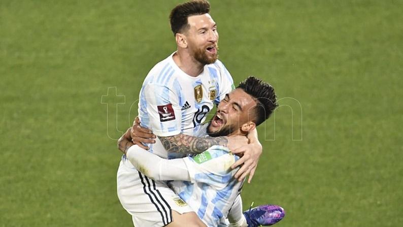 Argentina goleó a Uruguay y sigue invicta en las eliminatorias