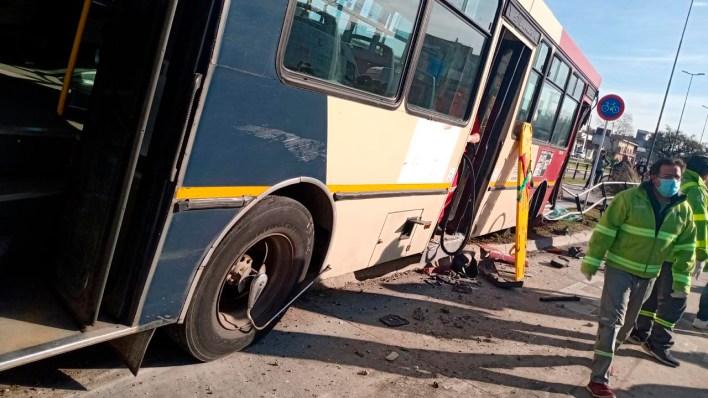 Accidente en el Metrobús