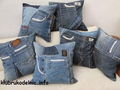 Ideas para reciclar vaqueros almohadones de retazos