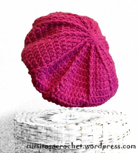 Patrones de boinas a crochet paso a paso