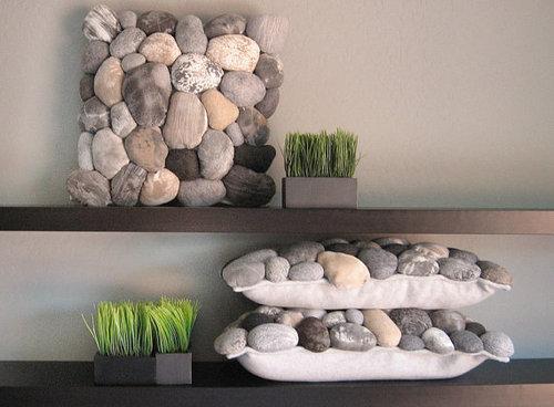 Creatividad con piedras 50 ideas y tutoriales para crear for Decoracion con piedras en interiores
