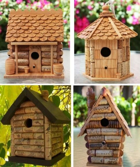 Ideas para reciclar corchos casitas de aves